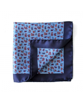 Pochette Paisleys - Bleu