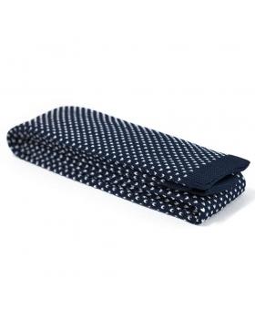 knit tie navy