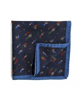 Pochette de Costume golf bleu