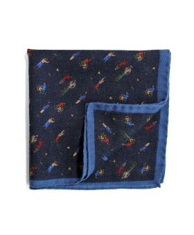 Pocket Square blue golf pattern