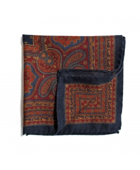 Pochette de Costume laine bleu