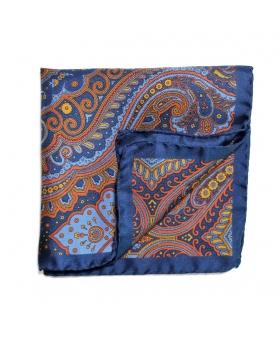 Pochette de Costume soie bleu