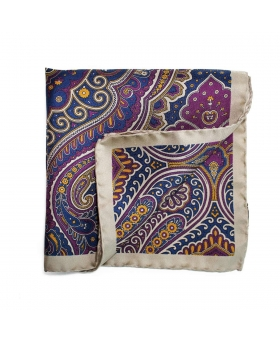 Pocket Square with beige paisley