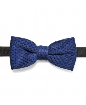 bow tie knitted blue