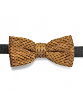 knitted bow tie beige