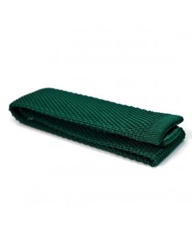 cravate en tricot de soie verte