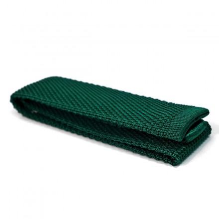cravate en tricot de coton verte
