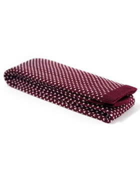 cravate tricot bordeaux