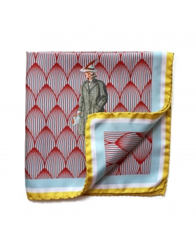 Pocket Square Lady in Yellow