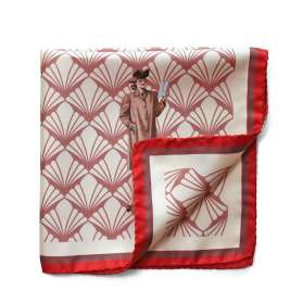 Pocket Square Lady in Red