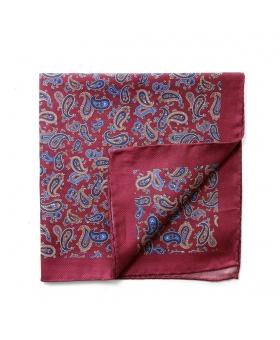 Pocket Square burgundy paisleys
