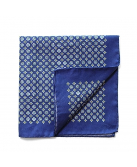 Pocket Square blue cotton