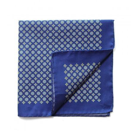 Pochette de Costume coton bleu