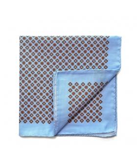 Pocket Square cotton blue