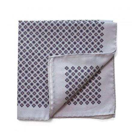 Pochette de Costume gris coton