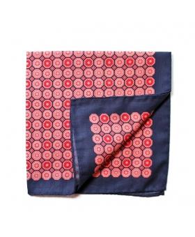 Pochette de Costume coton motif médaillons roses