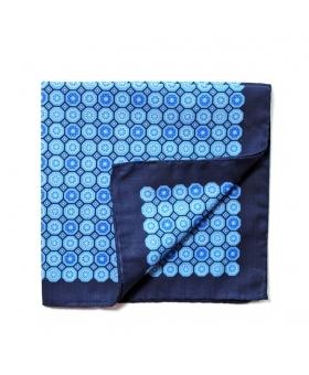 Pocket Square cotton medaillon pattern