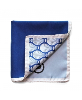 Pocket Square with blue pattern