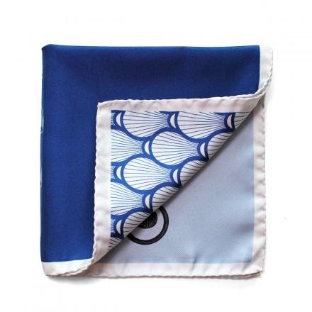 Pochette de Costume en soie bleu