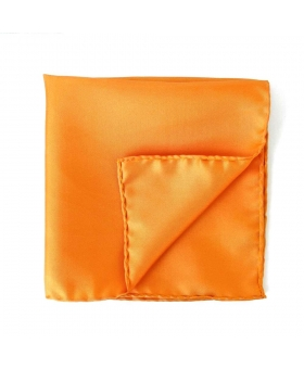 Pochette Costume Soie Orange