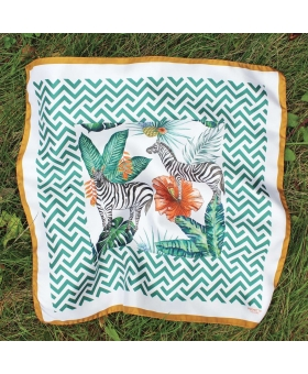 foulard en soie jungle zebres