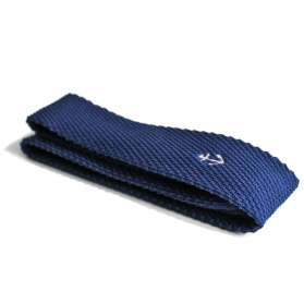 Knitted Tie Navy Niven