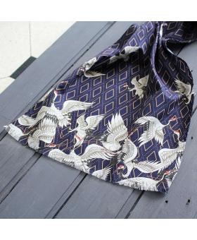 foulard en Coton - White Cranes