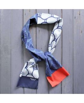 Foulard en Coton bleu