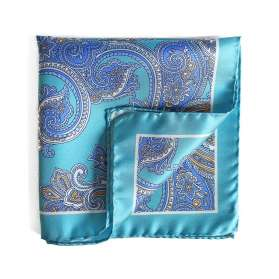 Pochette de Costume Summer Dandy - Bleu Turquoise