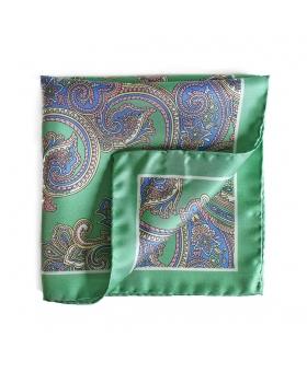 Pocket Square Silk Green