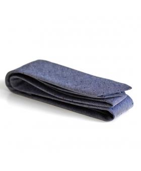 Cravate en coton bleu à pois