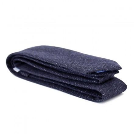 Cravate coton bleu marine