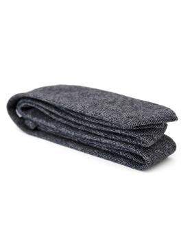 Cravate en laine grise motif chevron