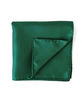 Pochette Costume Soie Vert Bouteille
