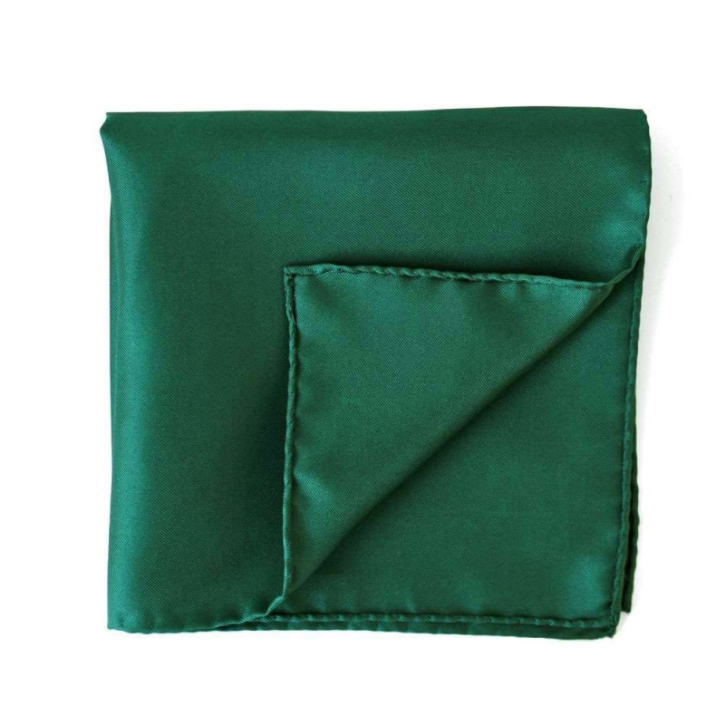 Green Silk Pocket Square