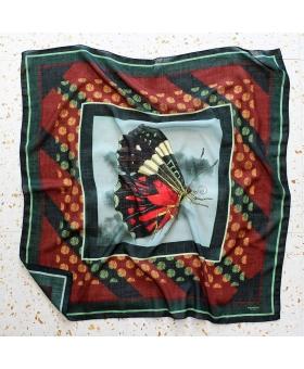Foulard Laine papillon