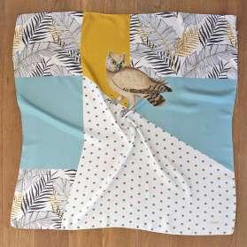 Foulard Soie - The Palm Owl