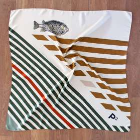Foulard Soie - The Puffer Fish
