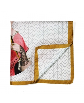 silk beige pocket square