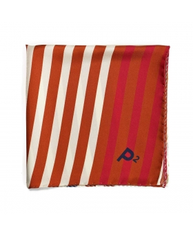 silk pocket square with stripes