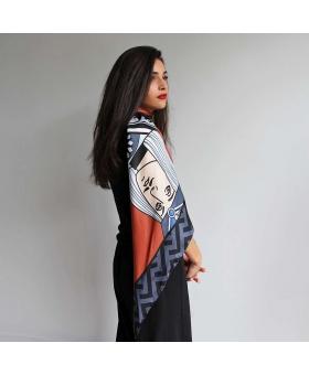 Silk scarf - Disc Joker