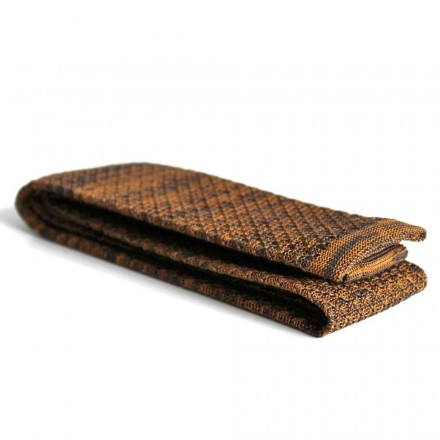 Knitted Tie with gold pattern