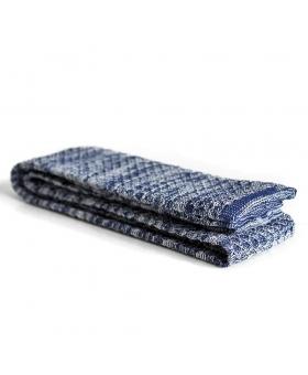 Cravate Tricot chinée bleu et blanc