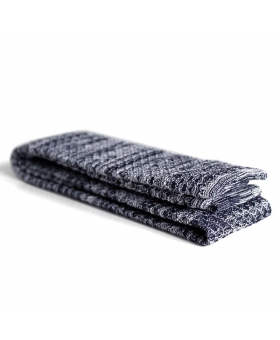 Knitted Tie with navy blue and white
