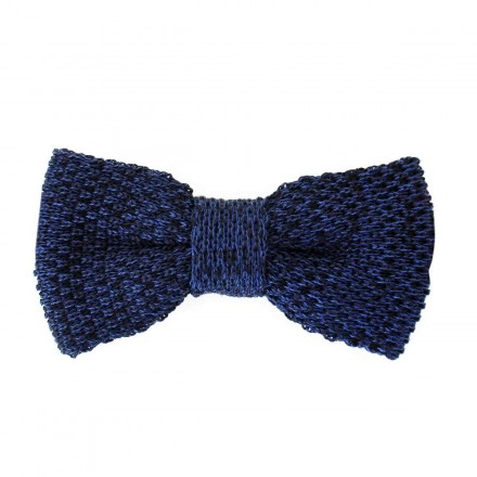 knitted navy Bow Tie