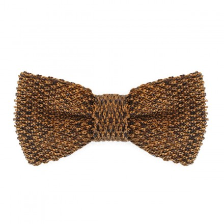 Knitted Bow Tie mustard yellow