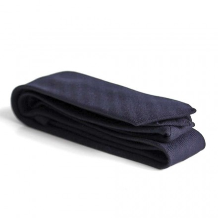 Cravate bleu marine laine homme
