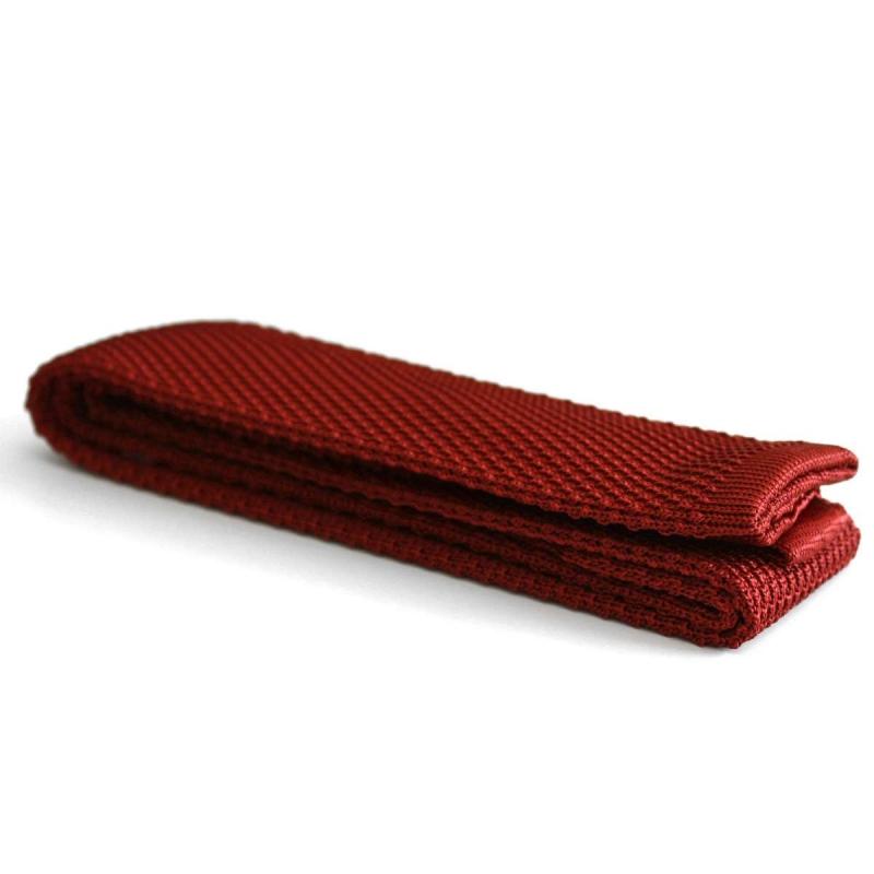 Cravate Tricot rouge brique