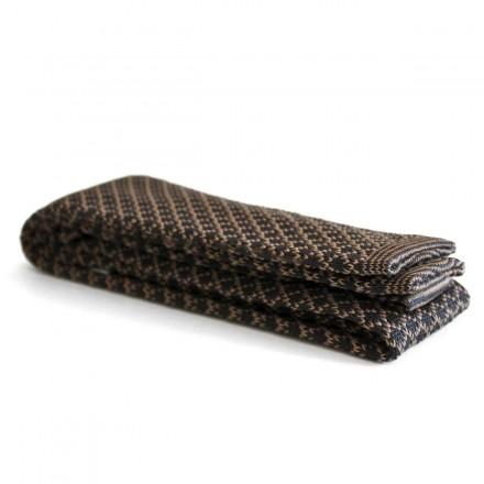 grey beige knitted tie