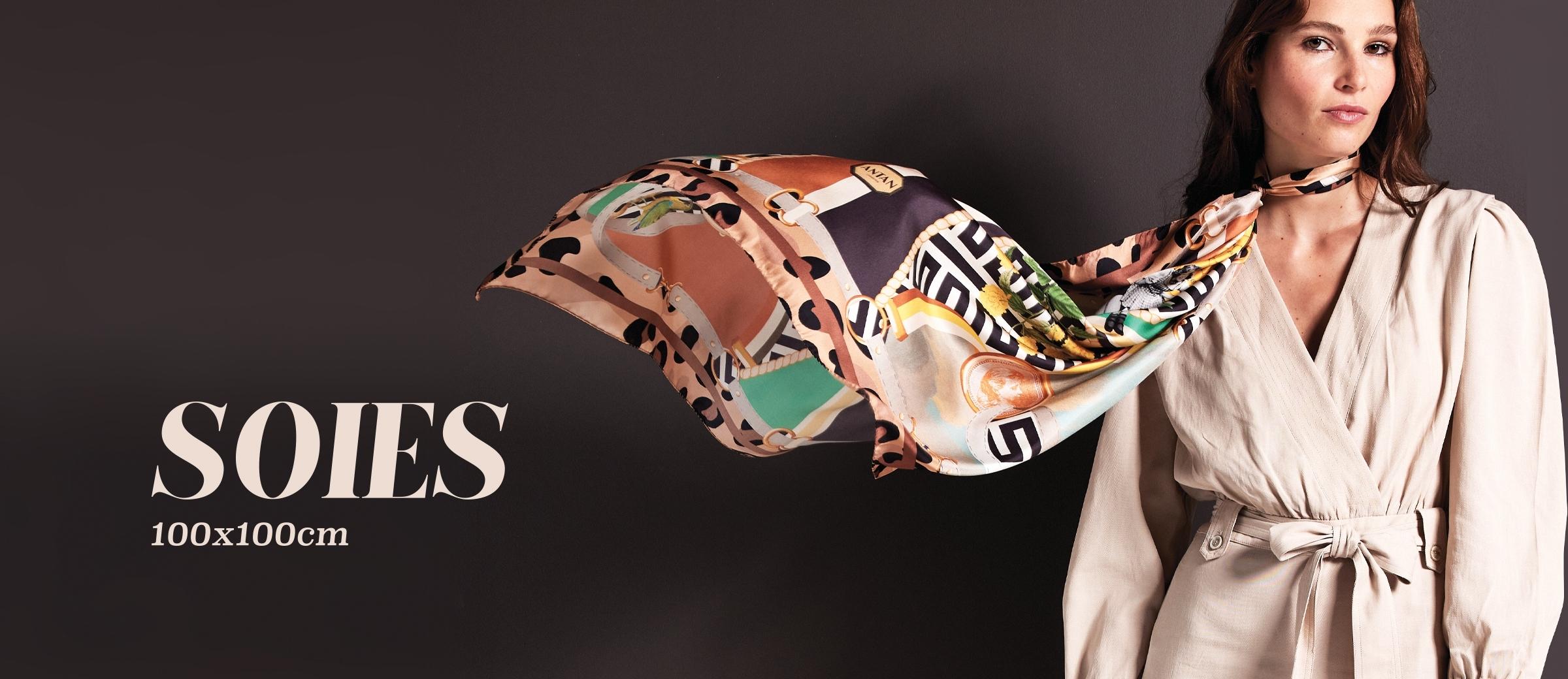 Foulards soie 100x100cm